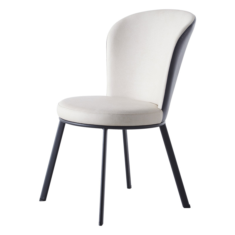 Nordic Technology Cloth Dining Chair Home Modern Simple Restaurant Ins Net Red Light Luxury Creative  Iron Back