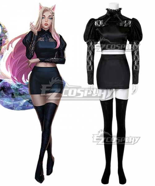 LOL 2020 KDA K/DA THE BADDEST Ahri Cosplay Costume