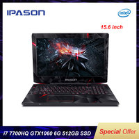 IPASON 15.6 inch IPS Gaming Laptop intel i7 7700HQ GTX1060 6G RGB 8GB 16GB RAM DDR4 256GB 512GB SSD Gaming Notebook Computer
