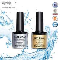 2 teil/satz Top Basis Mantel Klaren Nagellack Vernis Semi Permanant UV Soak Off Gel Nagellack Lack Nagel Primer gel Lack