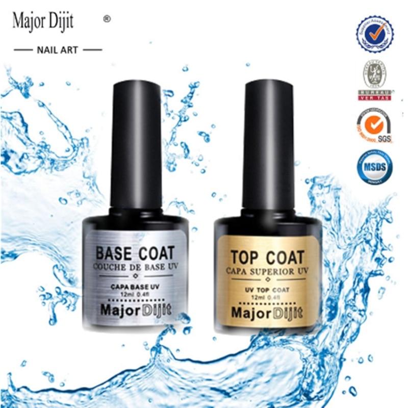 2pc/set Top Base Coat Clear Nail Polish Vernis Semi Permanant UV Soak Off Gel Nail Polish Lacquer Nail Primer Gel Varnish