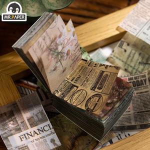 Mr.paper Kraft-Card Butter-Material Journaling Scrapbooking Bullet Plant DIY Antique