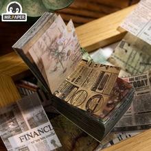 Мистер бумага + 365pcs + Antique + Ins + Style + Plant + News + Kraft + Card + Journaling + Bullet + DIY + Scrapbooking + Butter + Material + Paper + Retro + LOMO + Card