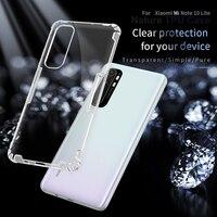 Nillkin-funda de TPU para Xiaomi Mi Note 10 Lite, carcasa transparente y suave, serie Nature, para Mi Note 10 Lite
