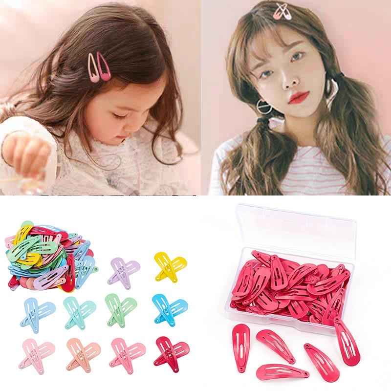 50 шт./корт. Разноцветные детские заколки для волос для девочек в Корейском стиле Нескользящие разноцветные заколки для волос для девочек дн...