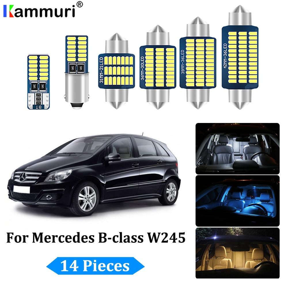 KAMMURI 14Pcs White Canbus led Car interior lights Kit for Mercedes Benz B Class B200 W245 2005   2011 LED interior light Kit|Signal Lamp| |  - title=
