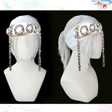 Короткие Серебристые термостойкие синтетические волосы для косплея из м/ф «рассекающий демонов» киметсу No Yaiba Uzui Tengen + бесплатная шапочка для парика (без головных уборов)