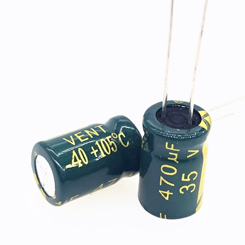 20pcs 35V 470UF 8*12MM  High Frequency Low Impedance Aluminum Electrolytic Capacitor 470uf 35v Only Good Quality 20%