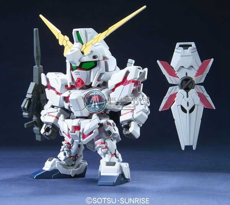 Bandai Model 58279 <font><b>BB</b></font> 360 SD/Q Edition UNICORN <font><b>GUNDAM</b></font> RX-0 Unicorn <font><b>Gundam</b></font> PVC Action Figure Model Kid Dolls Toys Figurals image