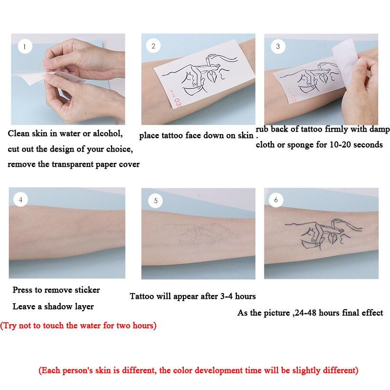 5pcs Temporary Henna Tattoo Stickers Hot Tattoo Paste Waterproof Fake Body Art Tattoo Stickers Tool Microblading Accessories 4