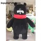 2M inflable máscara de oso negro gordo traje de mascota trajes Cosplay partido juego trajes de vestir publicidad Halloween Navidad Pascua adulto