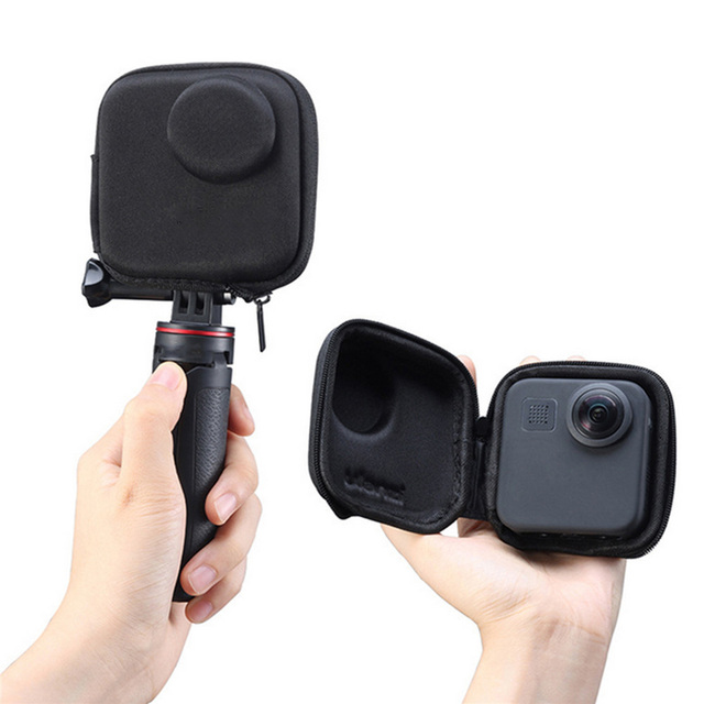 Portable Mini EVA Waterproof Storage Case for Gopro Max Camera Anti shake Protective Case Cage Half open Bag for Gopro Max