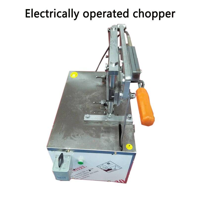 Ev Aletleri'ten Mutfak Robotları'de Ticari elektrikli kesici Paslanmaz çelik kemik kesme makinesi için tavuk/ördek/dondurulmuş balık  et/bitkisel ilaç saman kesici title=