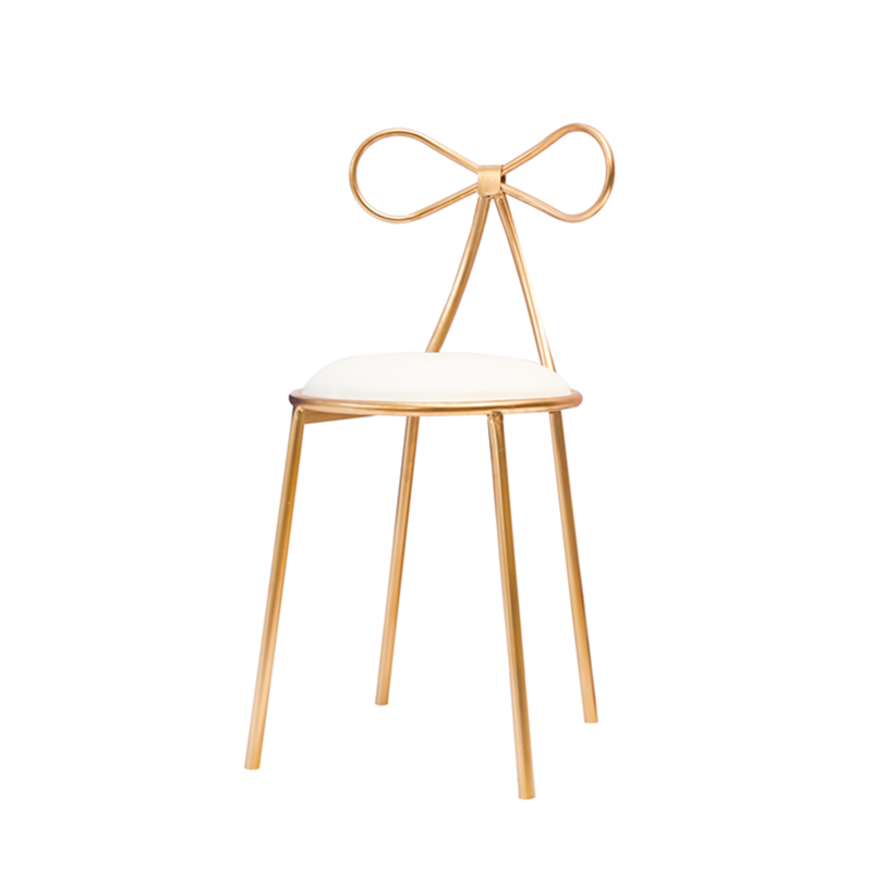 Nordic iron dressing stool butterfly dressing table stool simple creative makeup chair simple casual dining chair
