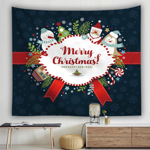 Christmas Decoraions Tapestry Wall Hanging Cartoon Elk Santa Claus Wall Cloth Tapestries New Year Series Celerate Decor For Home