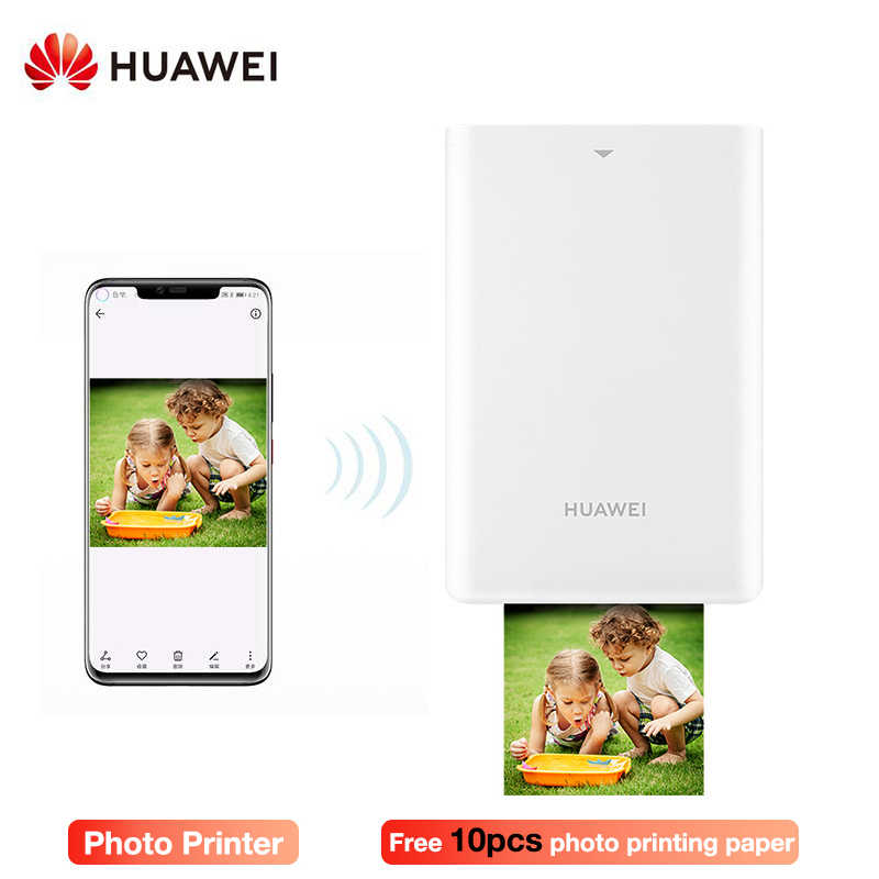 Original Huawei AR Portable Photo Pocket Printer Mini Portable DIY  Photo Printers for  Smartphones Bluetooth 4.1 300dpi Printer