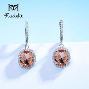 Kuololit Sultanite Gemstone Clip Earrings for Women Solid 925 Sterling Silver Zultanite Color Change earrings for Wedding bride