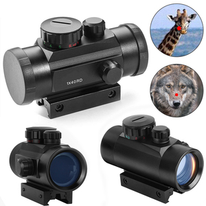 Tactical Hunting Doc 1x40 Red /Green Dot Sight Airsoft Dot Sight Scope 11mm 20mm Aim Point Rifle Scope Rail Mount Telescope D30