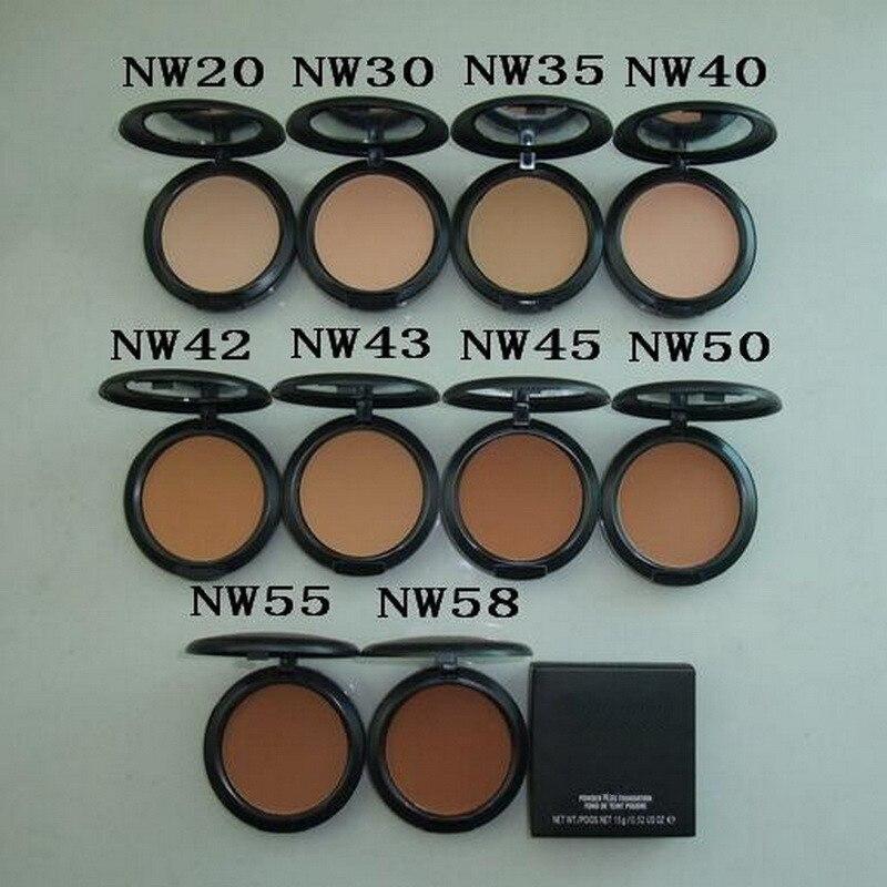 Professional Makeup 22 Colors Powder STUDIO POWDER PLUS FOUNDATION FOND DE TEINT POUDRE 15g FIX Powder NC/NW