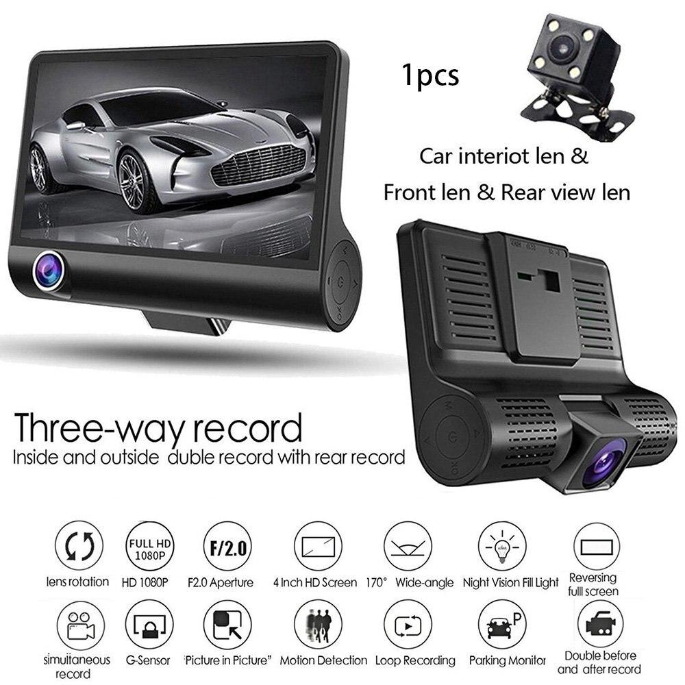 Black Posional Store 1080P HD Car Dash Camera Vehicle Front DVR Lens Video Recorder