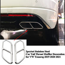 2pcs/set Rear Car Exhaust Tail Throat Muffler Decoration Pipe Mouth Cover Accessories for VW Volkswagen Touareg 2019 2020 2021