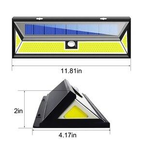 Image 3 - 1/2/4pc 180 LED כוח שמש חיישן תנועת אור COB 3 מצבים חיצוני גן חצר עמיד למים אנרגיה חיסכון מסלול שמש מנורת קיר