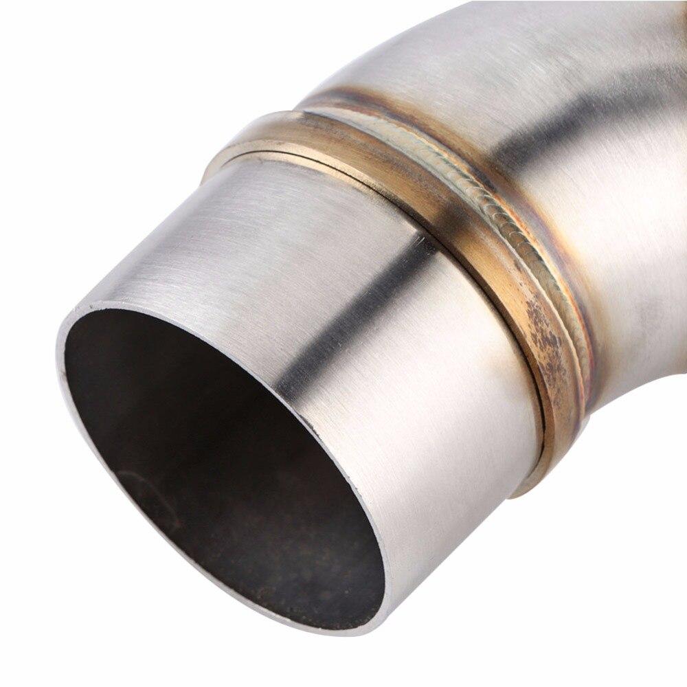 Connettore adattatore per tubo di collegamento tubo centrale in acciaio inossidabile a tubo di scarico per moto per CB1000R 2008-2017