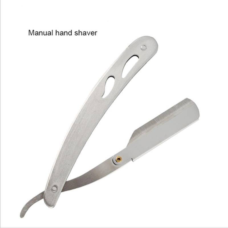 Men Shaving Barber Tools Hair Razor And Blades Antique Black Folding Shaving Knife Stainless Steel Straight Razor Holder