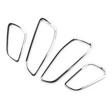 Waterproof Interior Door Handle frame 4pcs Car Chrome Plated ABS Plastic For Ford Escape Escape Kuga 2013-2018 Practical(China)