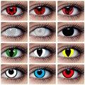Цветные контактные линзы для Хэллоуина, аниме Какаси сасуке Шаринган, цветные линзы для косплея, линзы для глаз, кукол, сумасшедшая красота, ...