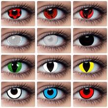 Lentes de contacto de colores para Halloween, Cosplay de Kakashi Sasuke Sharingan, Ojos de muñeca, belleza loca, lente de pupila