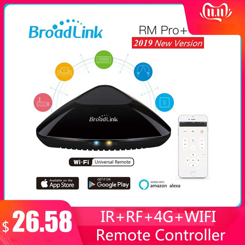 Broadlink Rm Pro+ RM3 Universal Intelligent Remote Controller Smart Home Automation WiFi+IR+RF Switch For IOS Android Phone 2019