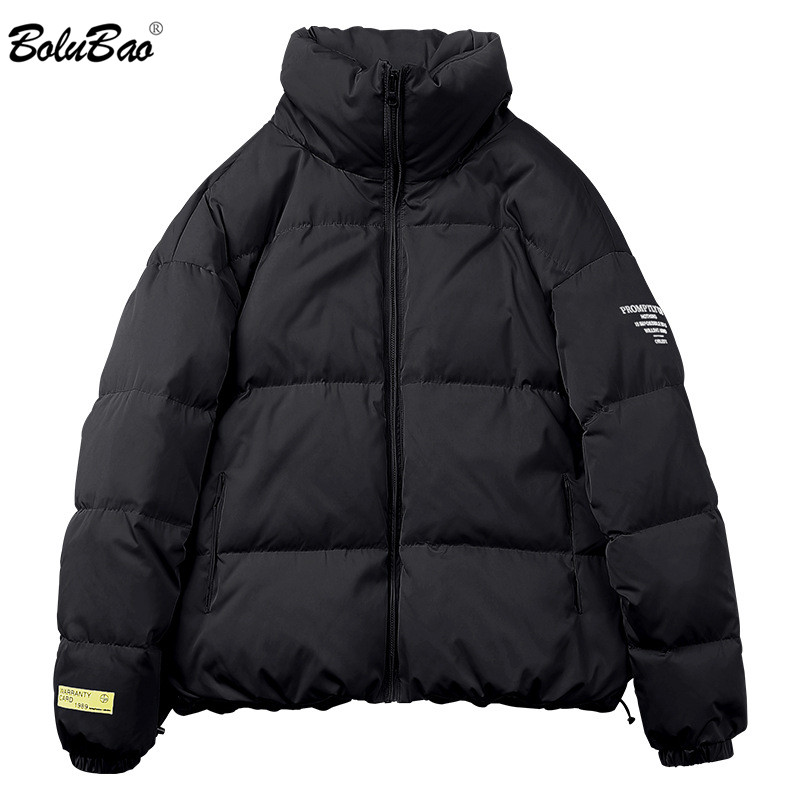BOLUBAO Trend Brand Men Solid Color Parkas Men's Fashion Casual Simple Wild Parka Winter New Male Thick Warm Parka Coats
