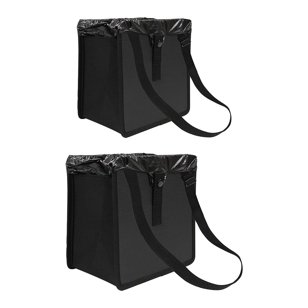 Car Trash Can Multifunctional Synthetic Leather Oxford Fabric Waste Basket