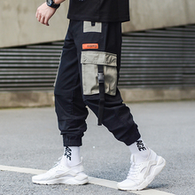 High Quality Fashion Men Joggers Pants Big Pocket Loose Fit Cargo Slack Bottom Streetwear Hip Hop Hombre