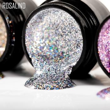 ROSALIND Manicure Set Gel Nail Polish Set 12PCS/LOT Rainbow Shiny Gel Glitter Acrylic Nail Kit Varnish All For Manicure Tools 5