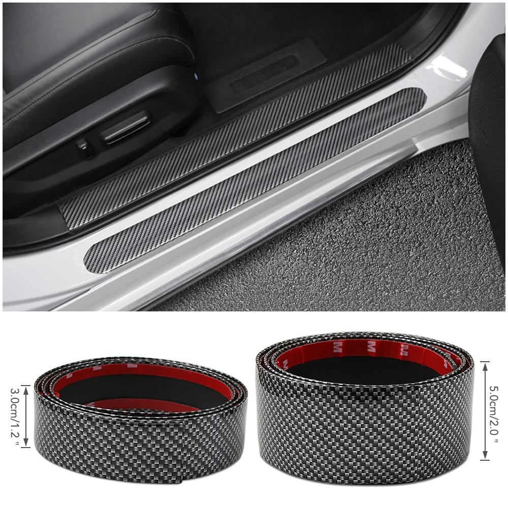 Buy Car Stickers 21D Carbon Fiber Rubber Styling Door Sill ...