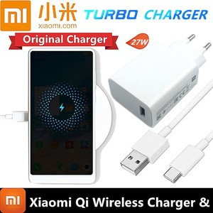 Image 1 - Original Xiaomi wireless Charger 20w 27w 15v For XiaoMi mi 9 mi x 2S mi x 3 qi Epp (10w) FOR Iphone xs XR XS MAX MULTIPLE Secure