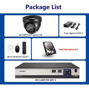 Image 4 - Plug and play POE NVR 8CH Xmeye CCTV פנים לזהות מערכת 5MP ב/חיצוני POE IP מצלמה IR יום /לילה אבטחת מעקב ערכות