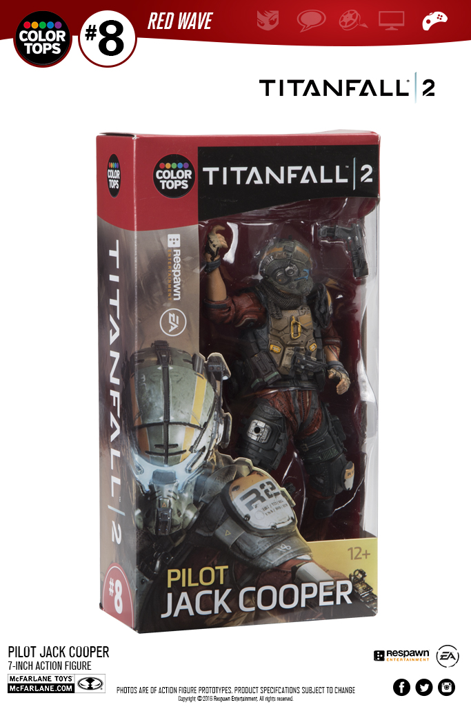 NewMovable PVC Driver Pilot Jack Cooper Action Figure Atlas Titanfall Titan Fall Model Toy Collection Cartoon Model Xmas Gift
