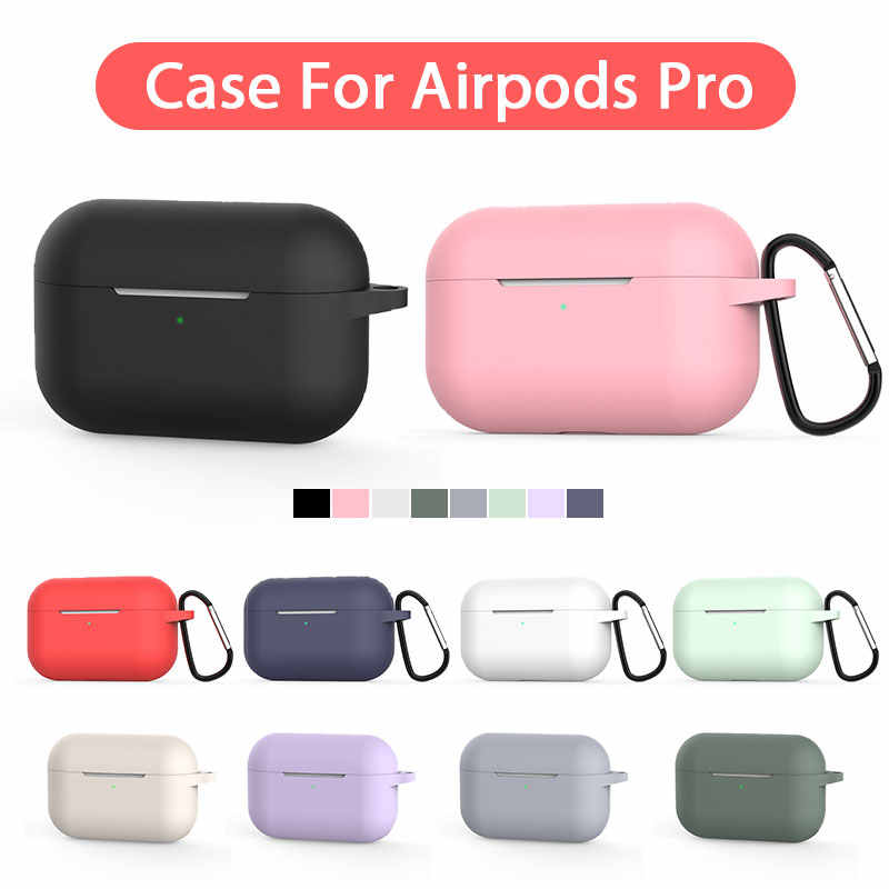 2019 New Case For Airpods Pro 3 Silicone Wireless Earpods Cover For Air Pods Pro Headphone Protective Case Earphone Accessories