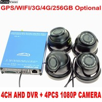 4CH AHD DVR 4G Bus Auto DVR Fahrzeug Mobile 1080P SD Karte CCTV Video Überwachung System mit WIFI GPS tracking SDVR104 DHL Freies