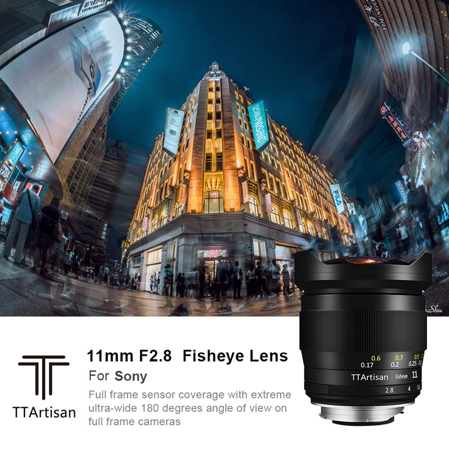 Image 2 - TTArtisan Full Fame 11mm F2.8 Ultra Wide Fisheye Manual Lens E mount for Sony A7 A7II A7R A7RII A7S A7SII A6000 A6300 A6500Camera Lens   -