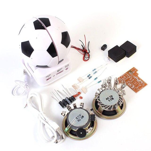 A7-- Mini Active Speaker DIY Kit Loudspeaker Suite Football Shape Electronic Production Training Experimental Teaching Suite
