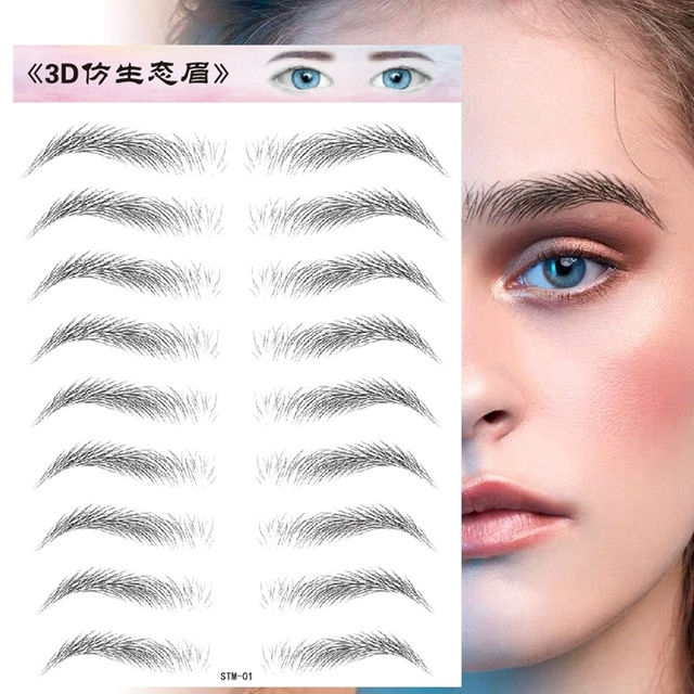 O.TWO.O 4D Hair Like Eyebrows Makeup Waterproof Eyebrow Tattoo Sticker Long Lasting Natural Fake Eyebrow Lamination Cosmetics 3