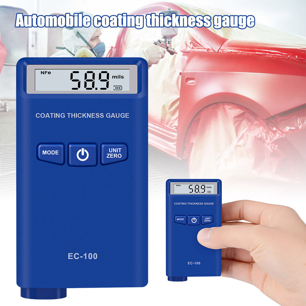 Digital Coating Paint Thickness Gauge Meter For Car Auto Vehicle With Backlight LCD Display PUO88