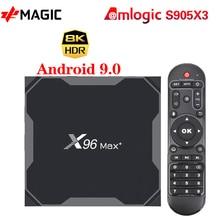 X96 MAX artı TV kutusu Android 9.0 4GB 64GB Amlogic S905X3 dört çekirdekli 4GB 32GB TV kutusu 8K HD Wifi 2.4/5G X96MAX +