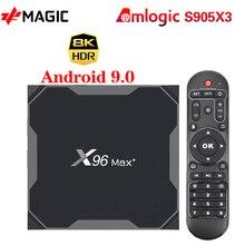 ТВ   приставка X96MAX Plus Android 9,0 4 Гб 64 Гб четырехъядерный процессор Amlogic S905X3 4 ГБ 32 ГБ ТВ  приставка Youtube 8K HD Netflix Wifi 2,4/5G X96MAX +