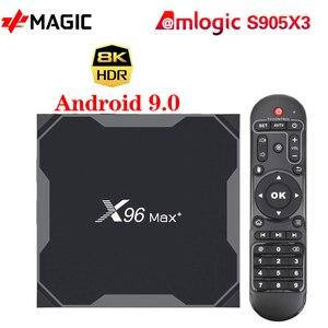 Image 1 - ТВ   приставка X96MAX Plus Android 9,0 4 Гб 64 Гб четырехъядерный процессор Amlogic S905X3 4 ГБ 32 ГБ ТВ  приставка Youtube 8K HD Netflix Wifi 2,4/5G X96MAX +