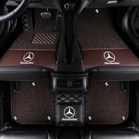 Car Floor Mat for Mercedes W220 W221 W140 W108 W109 W111 W112 W116 W126 280 320 350 430 Car Accessories Leather Floor Mat Carpet